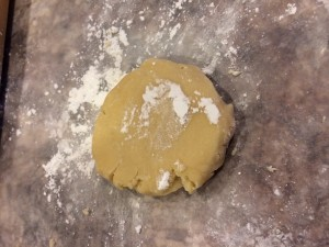 When making sugar cookies try using powdered sugar instead of flour for your rolling pin and work area!!