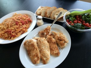 I serve this dish over pasta with marinara sauce, a fresh garden salad and Italian sliced or Ciabatta bread!