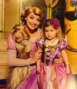Of course we brought our Rapunzel dress for the occasion!
