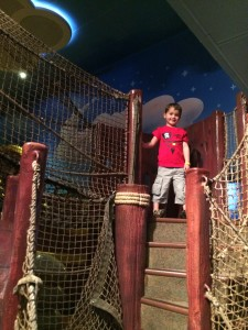 Disney Wonder's Oceaneer Club contains a giant pirate ship play area!