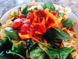 This recipe is great! I never add more than 2 veggies!  Peppers an spinach tonight!