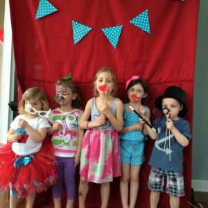 The kids had a blast with the photo booth... The mustaches and glasses were the big hits!