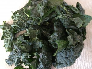 I buy bunches of curly kale! Wash well!