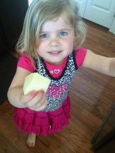 My kids love cheese! They love the cheese counter and taste testing! Bella's favorite is Havarti!