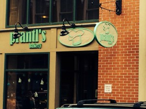 Prantl's Downtown location shares a space with Mancini's Bread! One stop baked goods!