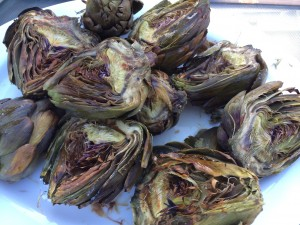 Bursting with flavor! Serve grilled artichokes as an appetizer on a Friday paired with a refreshing Reisling !