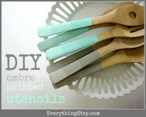 http://www.everythingetsy.com/2012/05/diy-ombre-painted-utensils/