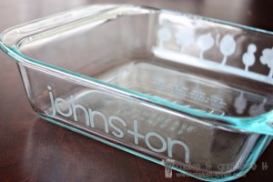 Etched Dish by Make It Love It http://www.makeit-loveit.com/2010/06/glass-etching.html