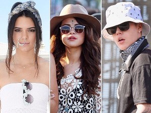Kendall Jenner, Selena Gomez and Justin Beiber Coachella- ing their way.  Photo courtesy peoplestylewatch.