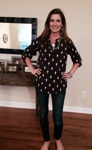 Love this blouse! I love this style of blouse so much I have 5 more just like it!!