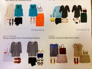 Stitch Fix included this cute styling card to give dress up and down the items! To see them in outfits!
