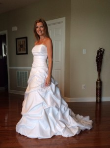 I love to get my wedding dress out and walk around the house!