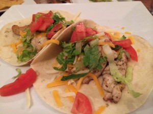 Bella's chicken tacos. The boys had already started gobbling down their quesadillas! No photo, sorry!