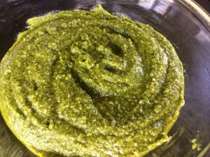 Pesto is a quick and easy marinade or sauce for pasta, chicken, and fish!