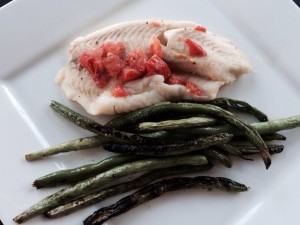 Tilapia is a great starting point when introducing fish into your cooking. Talapia is not fishy and it is easy to determine when it is cooked.