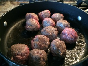 I have browned when I didn't have 4-6 hours to cook the sauce! If you don't mind 3-sided meatballs!