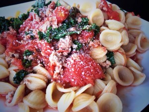 Always top with fresh grated Parmesan cheese! Enjoy!