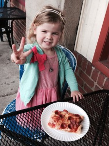 """""""Mommy, Can we go to Cowangewo's??"""" Would you say no to that face? This was Bella's 3rd birthday and her birthday lunch request!"""