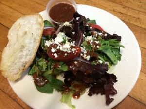 Denese makes the house salad dressing. A tomato vinaigrette! Delicious and refreshing! The bread??? Warm, fresh...amazing!