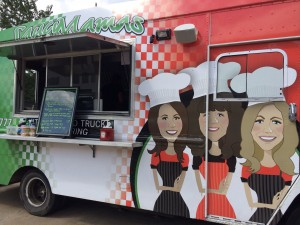 What a cool truck! Saucy Mamas Food Truck and Catering!