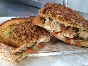 The chicken panini is the Saucy Mamas' most popular item right now!