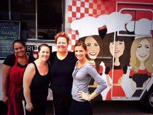 Being a saucy mama myself, I fit right in on this truck! Saucy Mamas who cook homemade Italian food is a sisterhood. I love these girls and can't wait to see where they go from here!