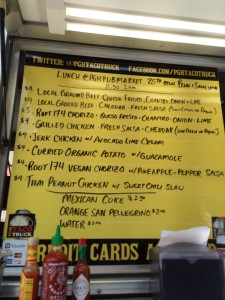 Menu on a Wednesday at the Pittsburgh Public market -The Pittsburgh Taco  Truck