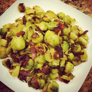 Roasted Brussels Sprouts with Bacon or Pancetta!