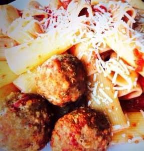 Sunday dinner with the Isoldi family is not complete without Carla's meatballs!