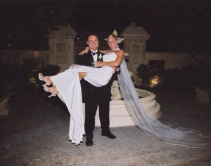 Carla and Vince on their wedding day! Photo courtesy of the Isoldi family.
